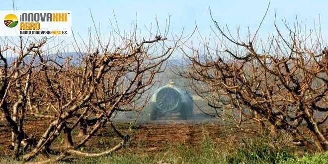 atomizador echando productos fitosanitarios