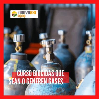 Curso Biocidas que sean o generen gases